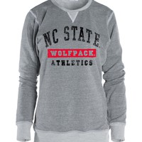 Official NCAA North Carolina State University Wolfpack NC State NCSU Adult Cozy Crewneck Sweatshirt - Triblend, Unisex,