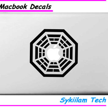 China Lost Dharma Logo for Apple Decal for Macbook Skin Air 11 13 Pro 13 15 Retina Computer Laptop Wall Vinyl Creative Sticker
