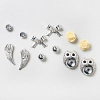 Sparkle Owl and Stud Earring Set of 6 | Claire's