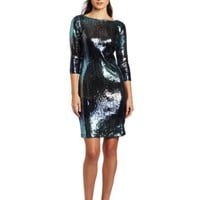 Karen Kane Women's Multi Sequin Dress