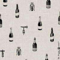 Drinks Pattern Bottles of Wine Vintage Background - Digital Paper for Scrapbooking, Craft and Design Projects
