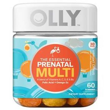Olly Essential Prenatal Multivitamin Vibrant Citrus Gummies - 60ct