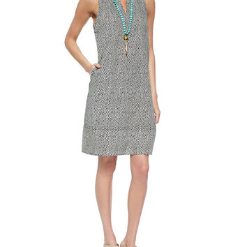 Bandhini-Print Halter Dress, Petite - Eileen Fisher