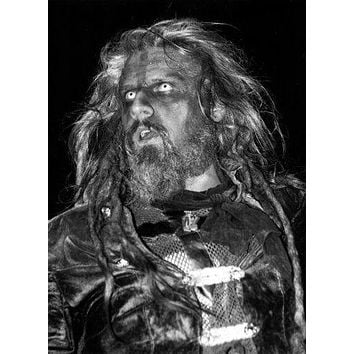 Rob Zombie poster Metal Sign Wall Art 8in x 12in Black and White
