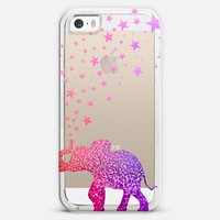 CRYSTAL GLITTER GATSBY ELEPHANT iPhone 5s case by Monika Strigel | Casetagram