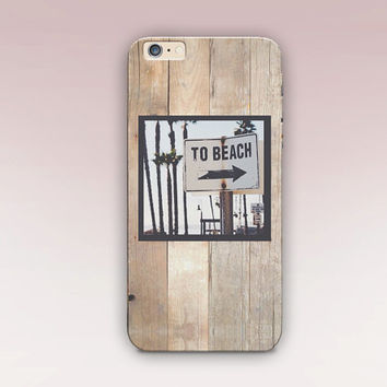 Beach Sign Phone Case For - iPhone 6 Case - iPhone 5 Case - iPhone 4 Case - Samsung S4 Case - iPhone 5C -  Matte Case - Tough Case