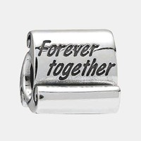 Women's PANDORA 'Forever Together' Scroll Charm - Sterling Silver