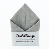 Pocket Handkerchief by BartekDesign LinenGray