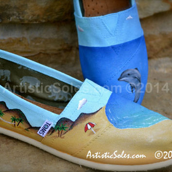 Custom TOMS Shoes - Beach Love II