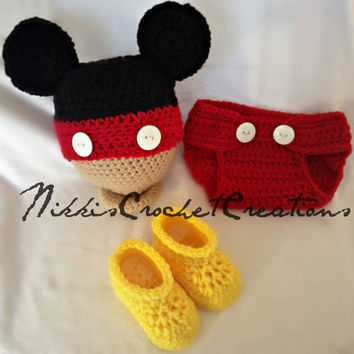 Crochet Mickey Mouse Photo Prop