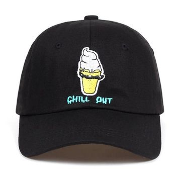 """""""chill out"""" dad hat"""