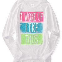 PS from Aero  Kids' Long Sleeve Woke Up Like This Boxy Graphic T