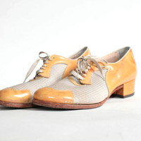 Vintage Jerry's Mustard Saddle Shoes (Small/Indie Brands)