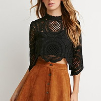 Ornate Crochet Boxy Top