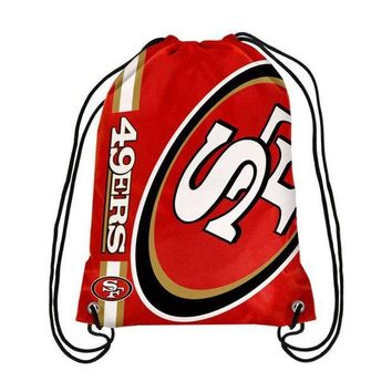 ICIKH6B San Francisco 49ers NFL Drawstring BackPack - SackPack ~ NEW!