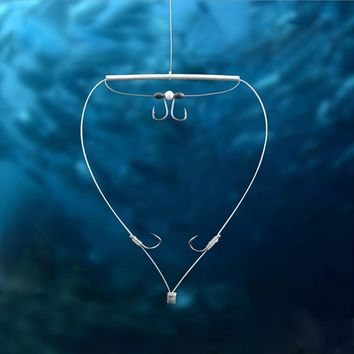 New Automatic String Hook for Fish Hook Fishing Silver Carp Oxtail Fishing Group Manually Refined Fish Hook With Bait Beads YG24