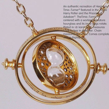 Harry Potter TIME TURNER necklace, Harry Potter Hermione Granger  necklace 18k Yellow plated