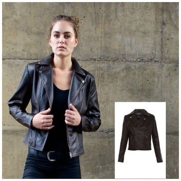 Diane Faux Leather Moto