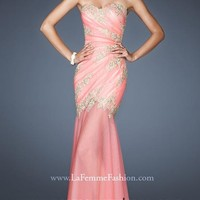 Sweetheart Watermelon Red Mermaid Prom Dress with Appliques Style YFAM193,Best Prom Dresses
