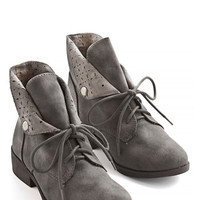 ModCloth Menswear Inspired March to My Surprise Bootie in Stone