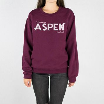 Aspen Colorado Crewneck Sweatshirt