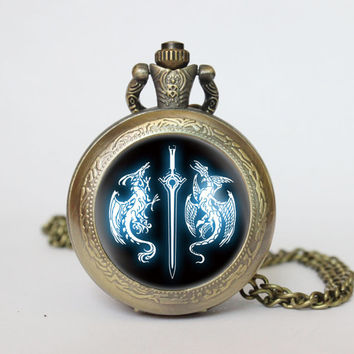 Handmade Fire Emblem Awakening pocket watch locket necklace Fire Emblem Awakening vintage Pendant locket necklace pocket watch