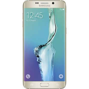 Samsung - Galaxy S6 edge+ 4G LTE with 32GB Memory Cell Phone - Gold Platinum (Verizon Wireless)