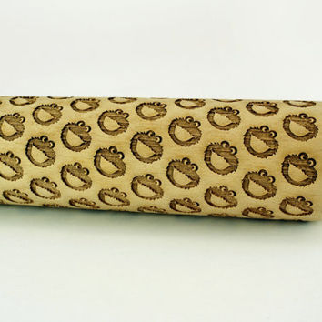 COOKIE MONSTER – Embossing wooden rolling pin