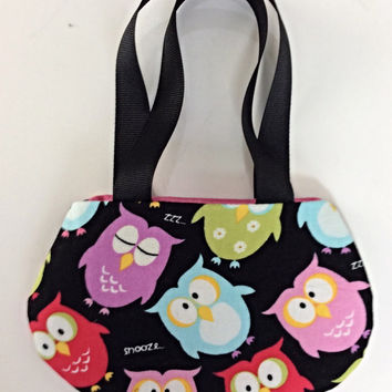 Doll Purse, Owl Purse, Black Own Purse for 18 Inch Dolls such as American Girl Dolls