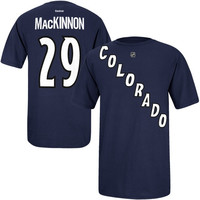 Nathan MacKinnon Colorado Avalanche Reebok Alternate Name & Number T-Shirt – Navy Blue