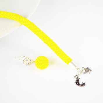 yellow Bracelet Jewelry, Bracelets, Beadwork,