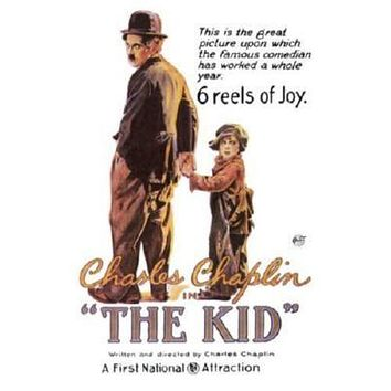 Kid The Charlie Chaplin Movie poster Metal Sign Wall Art 8in x 12in