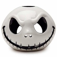 disney parks ceramic candle tealight votive holder jack skellington new