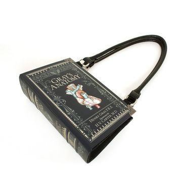 Gray's Anatomy Bookpurse - Decadence Repurposed Medical Book purse -