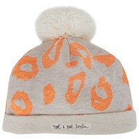 Orange Leopard Print Jersey Hat