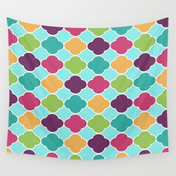 Vivid Morrocan Quatrefoil Wall Tapestry by SimplyChic