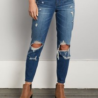 Destroyed Mid Rise Skinny Jean in Regular