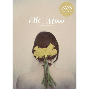 2016 Calendar, Photography Calendar, Desk Calendar, Photo Calendar, 5x7, Portraits, Loose Pages, Fine Art Prints, Elle Moss, Dark, Modern