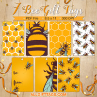 Free Bee Gift Tags
