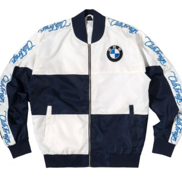 Club Foreign Bavarian Motor Works Racing Jacket in Navy Blue