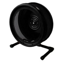 Pet Exercise Wheel, Pet Wheel for Sugar Gliders, Rats--Stealth Wheel; Black with Stand