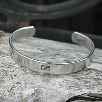 Cuff Bracelet - Hand Stamped - Personalized - Equality - Equal - Same Sex - Love Wins - Personalized Bracelet - Custom - Bangle