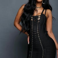 Bombshell Bandage Dress Black