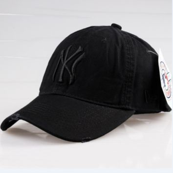 Black Sports NY Cotton Baseball Cap