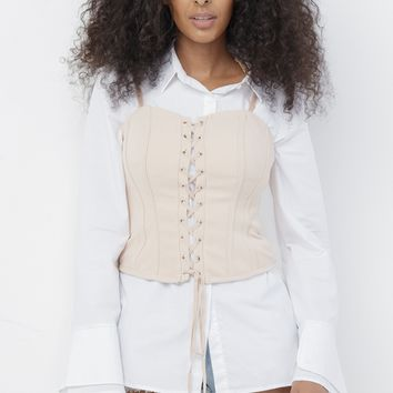 EMBER LACE UP CORSET TOP