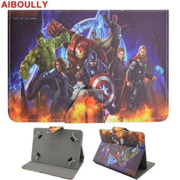 """AIBOULLY The Avengers 10.1 inch Universal Case For Samsung Galaxy Tab A A6 10.1 2016 T585 T580 T580N 10.1"""" Tablet PC Stands"""
