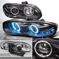 Chevrolet 1998-2002 Chevy Camaro Halo Projector Head Lamps/ Headlights- Bc-w