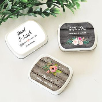 Personalized Floral Garden Mint Tins (Set of 24)
