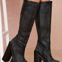 Jeffrey Campbell Mudler Leather Knee-High Boot