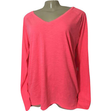 Victoria's secret PINK Long Sleeve V Neck Basic T Shirt